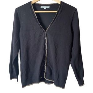 CLEO PETITES   Gold edged button up cardigan